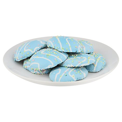Cookie Sugar Iced Shapped Blue Egg - Each