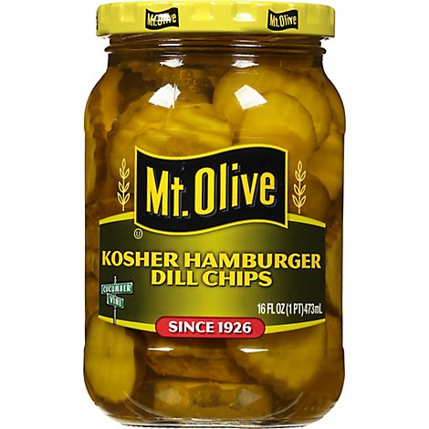 Mt. Olive Pickles Hamburger Chips Kosher Dill - 16 Fl. Oz.