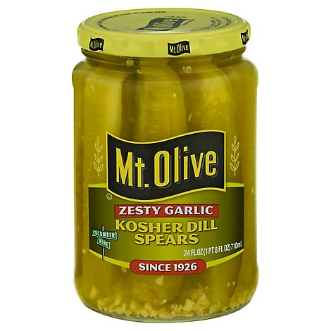 Mt. Olive Pickles Strips Zesty Garlic Dill - 24 Fl. Oz.
