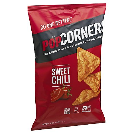 PopCorners Popped Corn Chips Crispy & Crunchy Sweet Heat Chili - 7 Oz