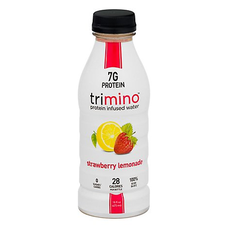 Trimino Protein Infused Water Strawberry Lemonade - 16 Fl. Oz.