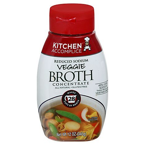 Kitchen Accomplice Broth Concentrate Reduced Sodium Veggie - 12 Oz