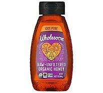 Wholesome Sweeteners Honey Raw Unfilt Sqz - 16 Oz