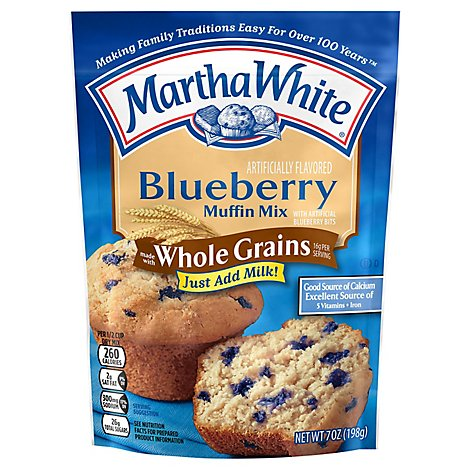 Martha White Muffin Mix Made with Whole Grains Blueberry - 7 Oz