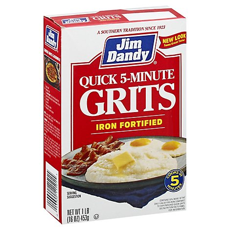 Jim Dandy Grits Quick With Iron - 16 Oz