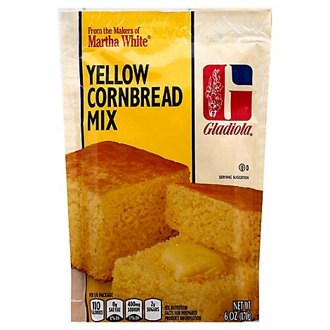 Gladiola Corn Bread Mix Yellow - 6 Oz