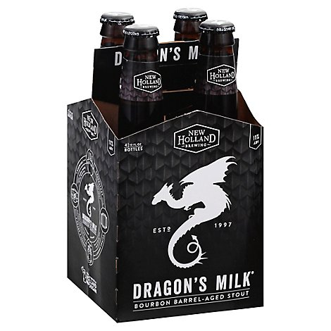 New Holland Brewing Dragons Milk Beer Bourbon Barrel-Aged Stout Bottle - 4-12 Fl. Oz.