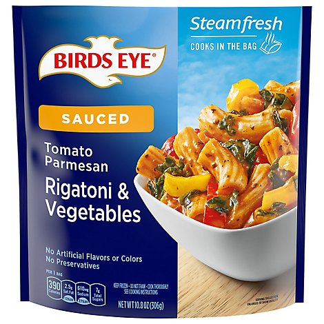 Birds Eye Steamfresh Chefs Favorites Rigatoni & Vegetables With Tomato Parmesan Sauce - 10.8 Oz