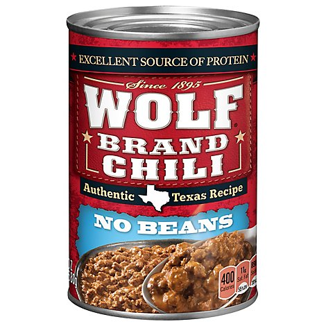 Wolf Brand Chili No Beans Original - 24 Oz
