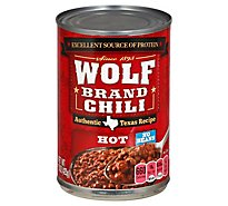 Wolf Brand Chili No Beans Hot - 15 Oz