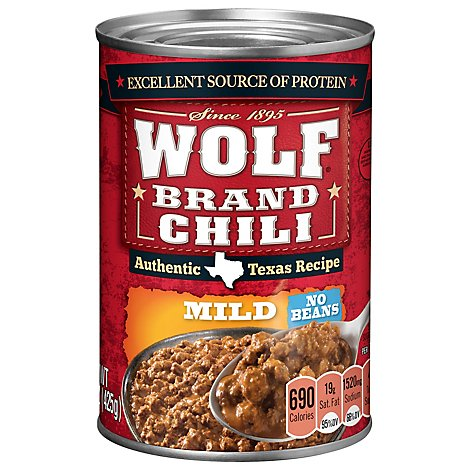 Wolf Brand Chili No Beans Mild - 15 Oz