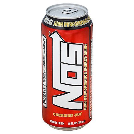NOS Energy Drink High Performance Cherried Out - 16 Fl. Oz.