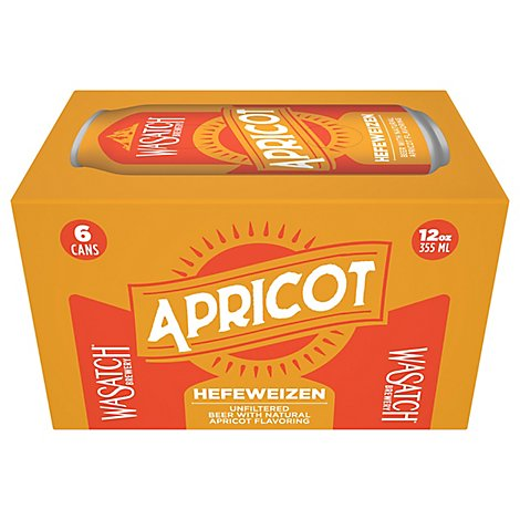 Wasatch Apricot Cans - 6-12 Fl. Oz.