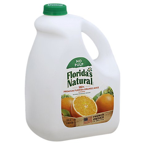 Floridas Natural Juice Orange No Pulp Chilled - 128 Fl. Oz.