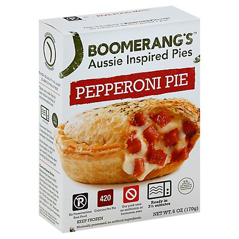 Boomerangs Entree All Natural Pepperoni - 6 Oz