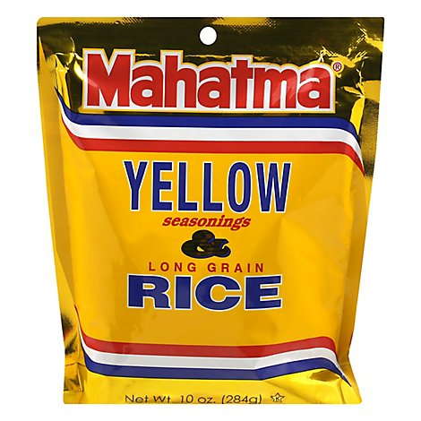 Mahatma Rice Long Grain Saffron Yellow Seasonings Pouch - 10 Oz