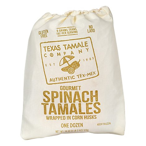 Texas Tamale Spinach/Cheese - 18 Oz
