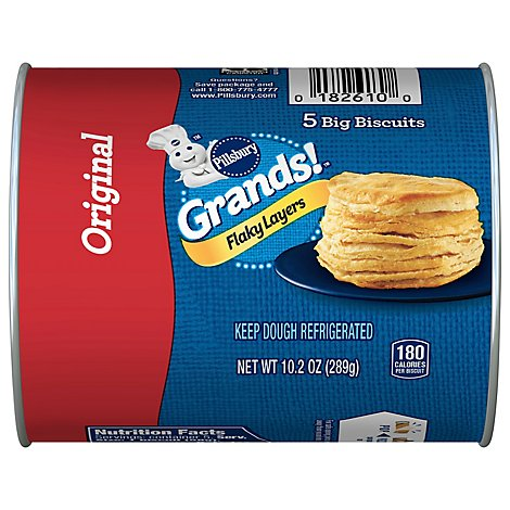 Pillsbury Grands! Biscuits Flaky Layers Original 5 Count - 10.2 Oz