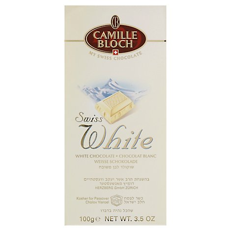 Camille Bloch Swiss White Bar - 3.5 Oz