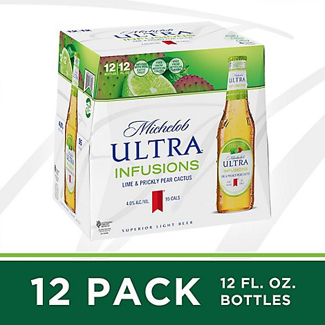 Michelob Ultra Lime Cactus In Bottles - 12-12 Fl. Oz.