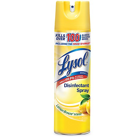 Lysol Disinfectant Spray Lemon Breeze Scent - 19 Oz