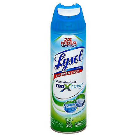 Lysol Max Cover Disinfectant Mist Garden After The Rain Scent - 15 Oz