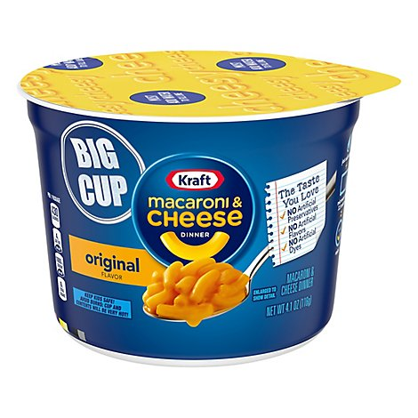Kraft Macaroni & Cheese Dinner Original Big Cup - 4.1 Oz
