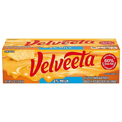 Velveeta Cheese Reduced Fat 2% Milk - 16 Oz