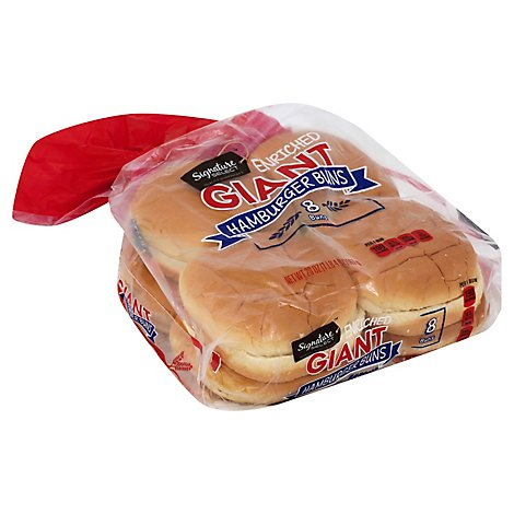 Signature SELECT/Kitchens Buns Hamburger Giant Enriched 8 Count - 20 Oz