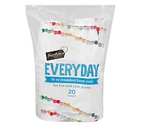 Signature SELECT/Home Cups Everyday Insulated 16 Ounce Bag - 20 Count