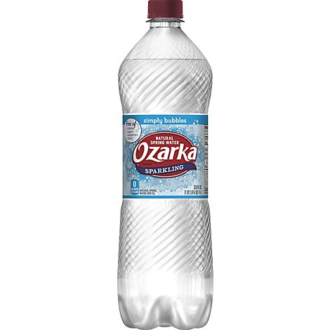 Ozarka Natural Spring Water Sparkling Simply Bubbles - 33.8 Fl. Oz.