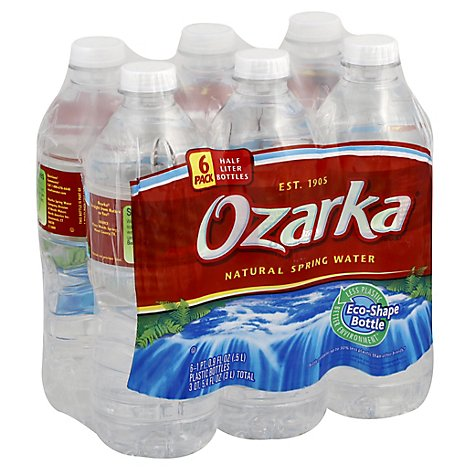 Ozarka Spring Water Natural - 6-0.5 Liter