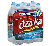 Ozarka 100% Natural Spring Water Sport Cap Bottle - 6-23.7 Fl. Oz.