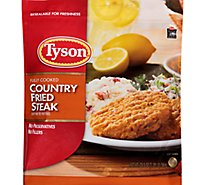 Tyson Fully Cooked Country Fried Steak Patties 20.5 Oz Frozen