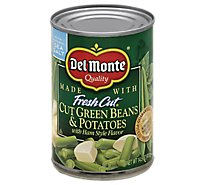 Del Monte Fresh Cut Green Beans & Potatoes Cut with Ham Style Flavor - 14.5 Oz