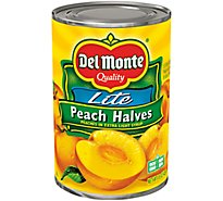 Del Monte Peached Cling Halves in Extra Light Syrup - 15 Oz