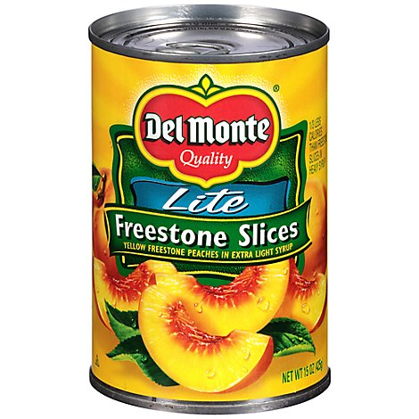 Del Monte Peaches California Sliced Freestone Lite - 15 Oz