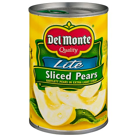 Del Monte Pears Sliced Northwest Lite in Extra Light Syrup - 15 Oz