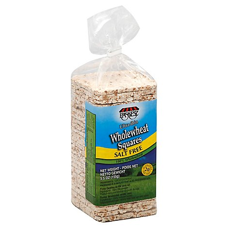 Paskesz Wholewheat Squares Ultra Thin Salt Free - 5.5 Oz