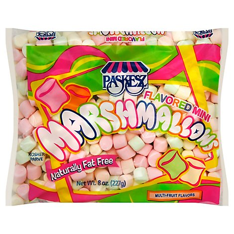 Paskesz Marshmallows Mini Flavored - 8 Oz