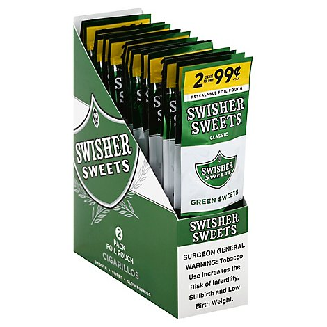 Swisher Sweet Green Sweet Cigarillo - 2 Count