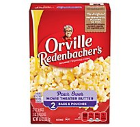 Orville Redenbachers Pour Over Popping Corn Gourmet Microwave Movie Theater Butter - 9.9 Oz