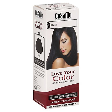 Lovey Hair Color Black - 12.0 Oz
