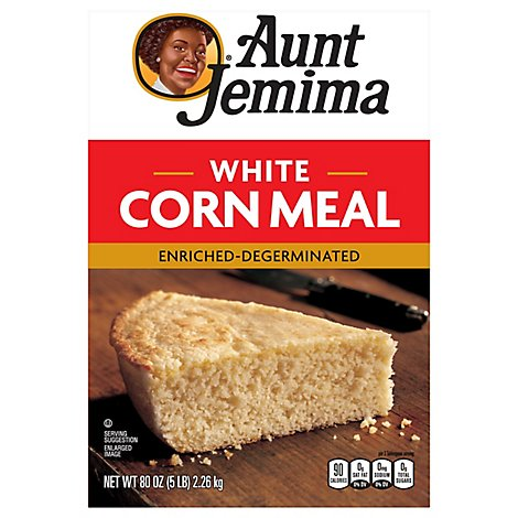 Aunt Jemima Corn Meal White Enriched-Degerminated - 80 Oz