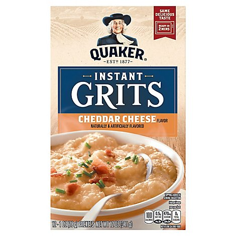 Quaker Grits Instant Cheddar Cheese - 12-1 Oz