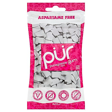 Prgum Gum Pomegranate Mint Sugar-Free 60 Piece - 2.82 Oz