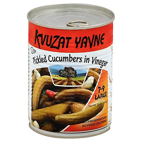 Kvuzat Yavne Can Cucumbers Vinegar - 19 Oz