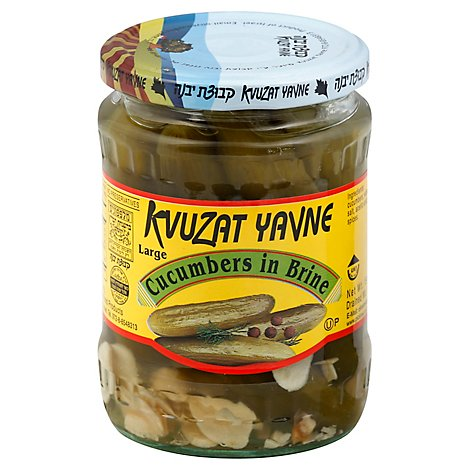 Kvuzat Yavne Jar Cucumbers In Brine - 11 Oz