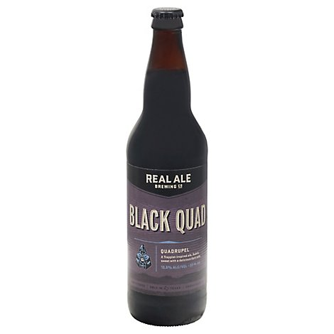 Real Ale Black Quad In Bottles - 22 Fl. Oz.