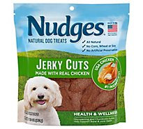 Nudges Natural Dog Treats Health & Wellness Jerky Cuts Made With Real Chicken Pouch - 16 Oz